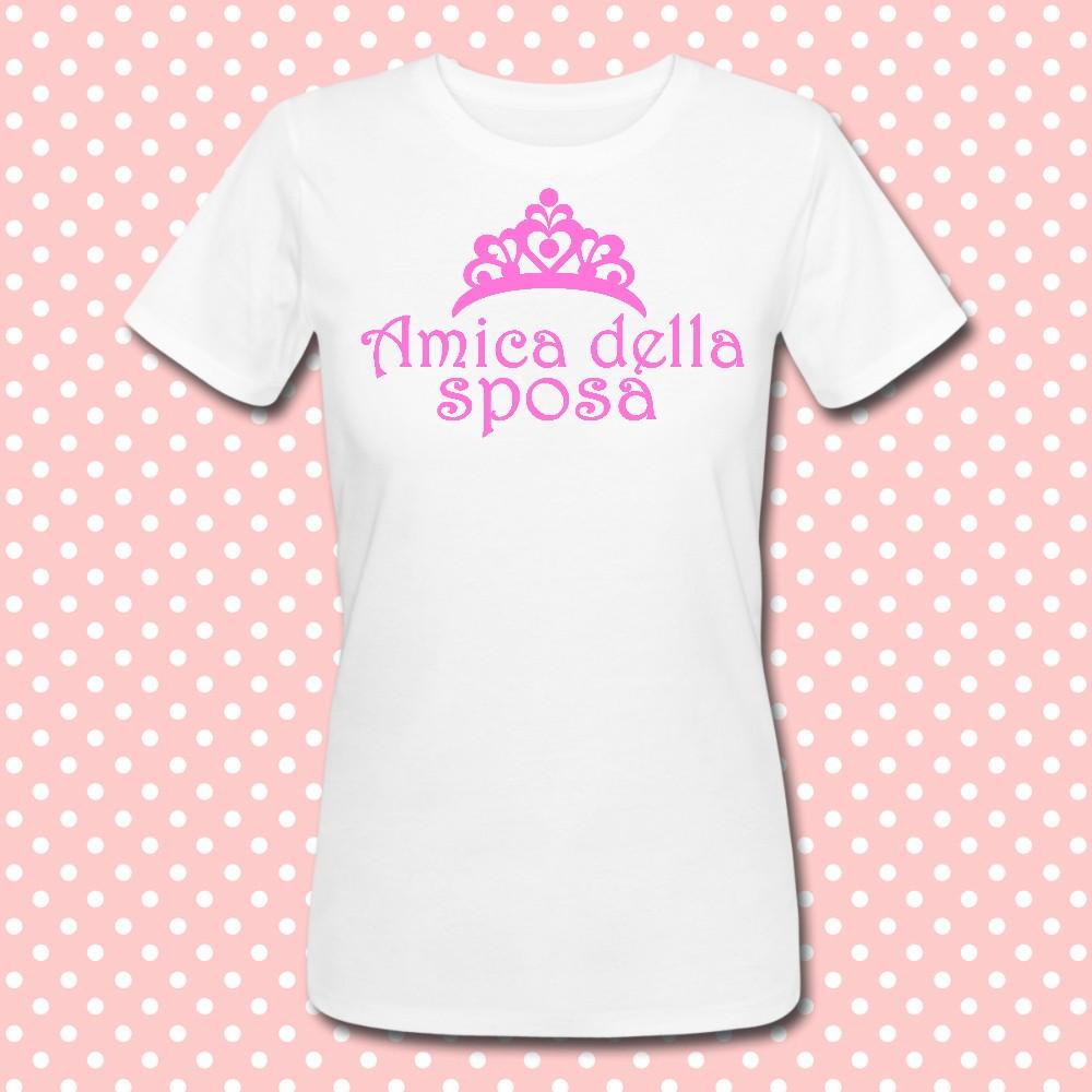"""Molto T-shirt """"Amica della sposa"""" idea regalo per addio al nubilato! UE08"""