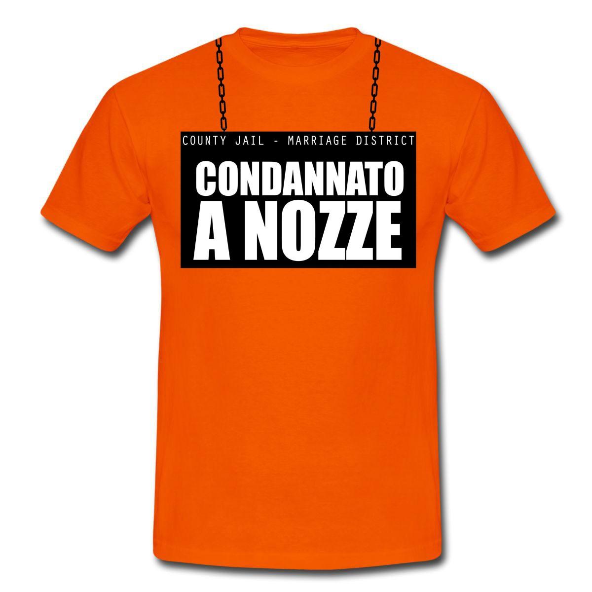 """Super T-shirt uomo """"Condannato a Nozze"""", idea regalo per addio al celibato! NS46"""