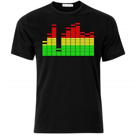 T Shirt Uomo Con Stampa Equalizzatore Mixer Idea Regalo Fonico E