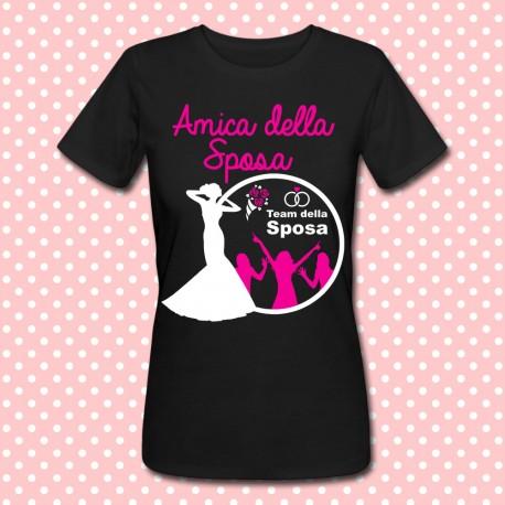 Idee Regalo Per Addio Al Nubilato.T Shirt Amica Della Sposa Silhouette Idea Regalo Per Le Damigelle Addio Al Nubilato