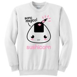sono magico Sushi unicorno kawaii divertente Felpa girocollo donna Sushicorn