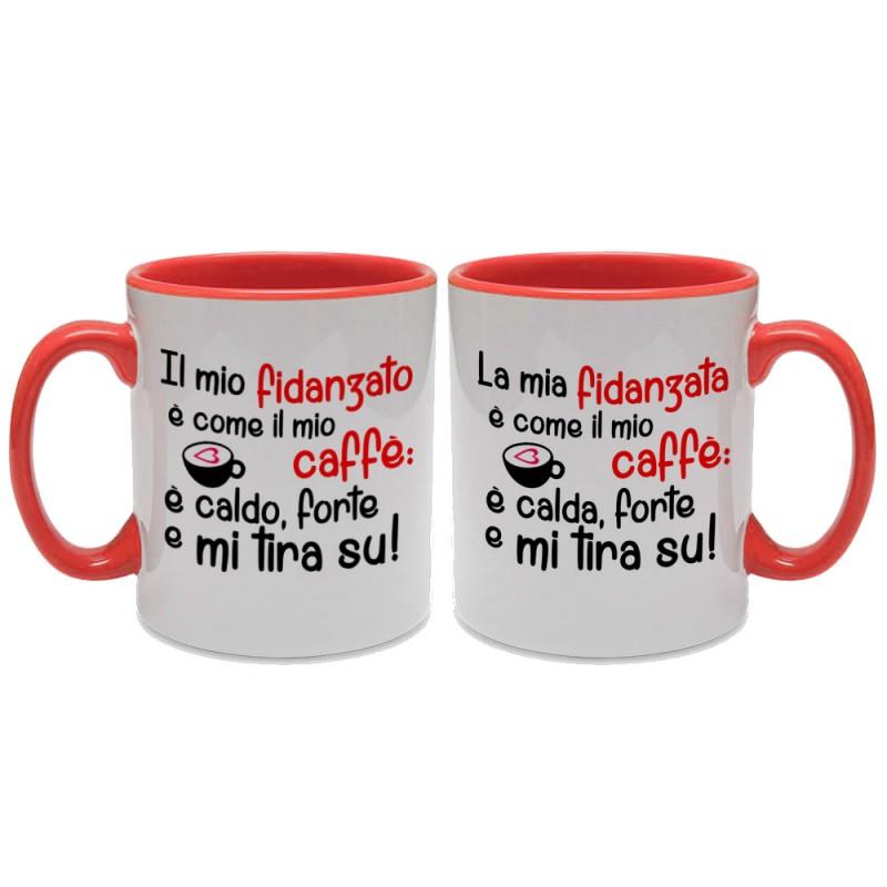 """Popolare 2 tazze di coppia Fidanzato e Fidanzata """"Come il mio caffè  VY72"""