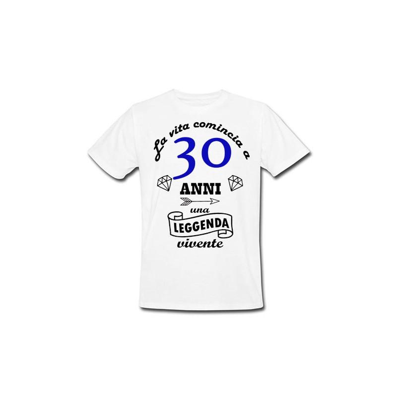 T Shirt Uomo La Vita Comincia A 30 Anni Idea Regalo Per Il