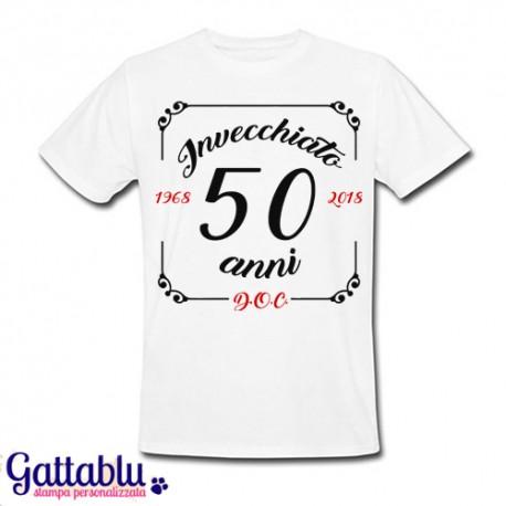 T Shirt Uomo Compleanno Invecchiato 50 Anni D O C