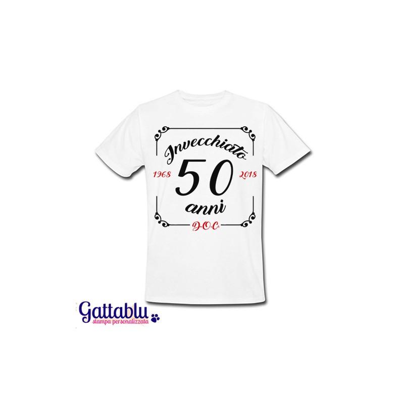 Anni Compleanno 50 Shirt T Invecchiato o Uomo c D BrdCoWxe