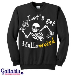 divertente idea regalo per Halloween! gatto nero T-shirt bimbo o bimba Dolcetto o scherzetto