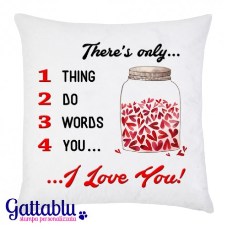 Federe Cuscini Amore.Federa Per Cuscino 3 Words 4 You I Love You San Valentino Idea